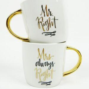 Slant Collections Mr. and Mrs. Right Mug Set